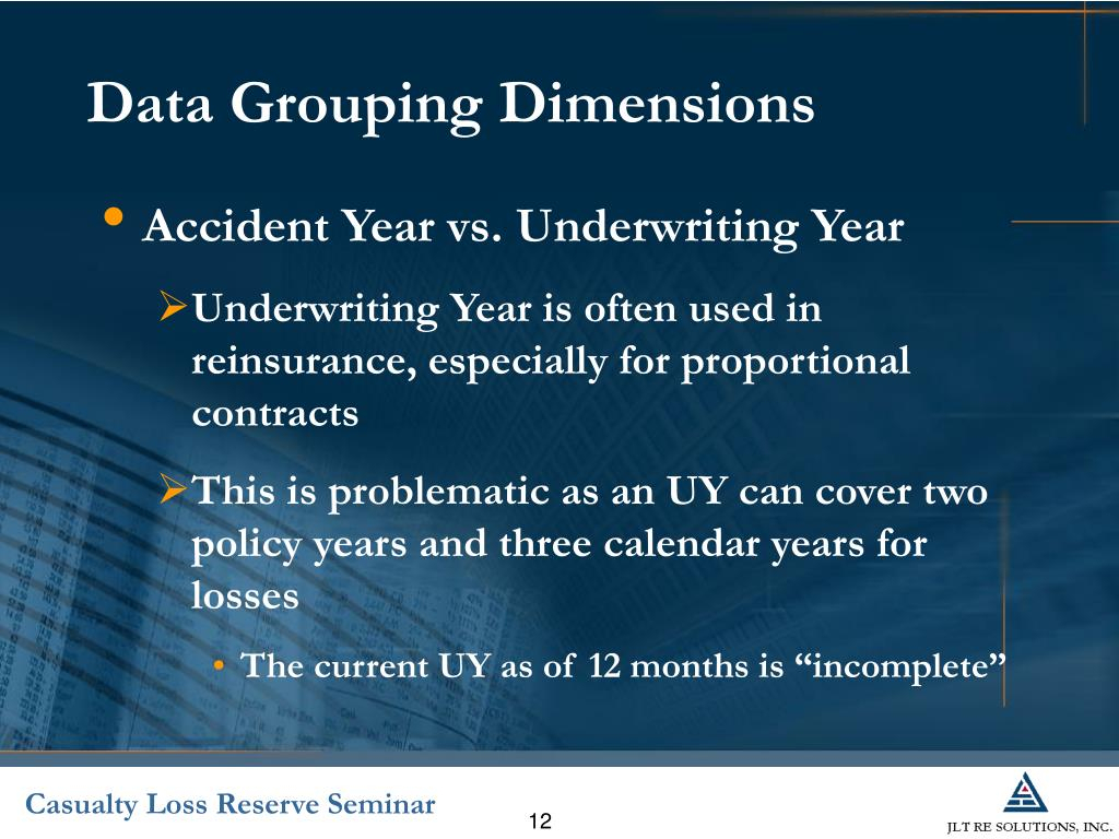 Ppt - Introduction To Reinsurance Reserving Powerpoint