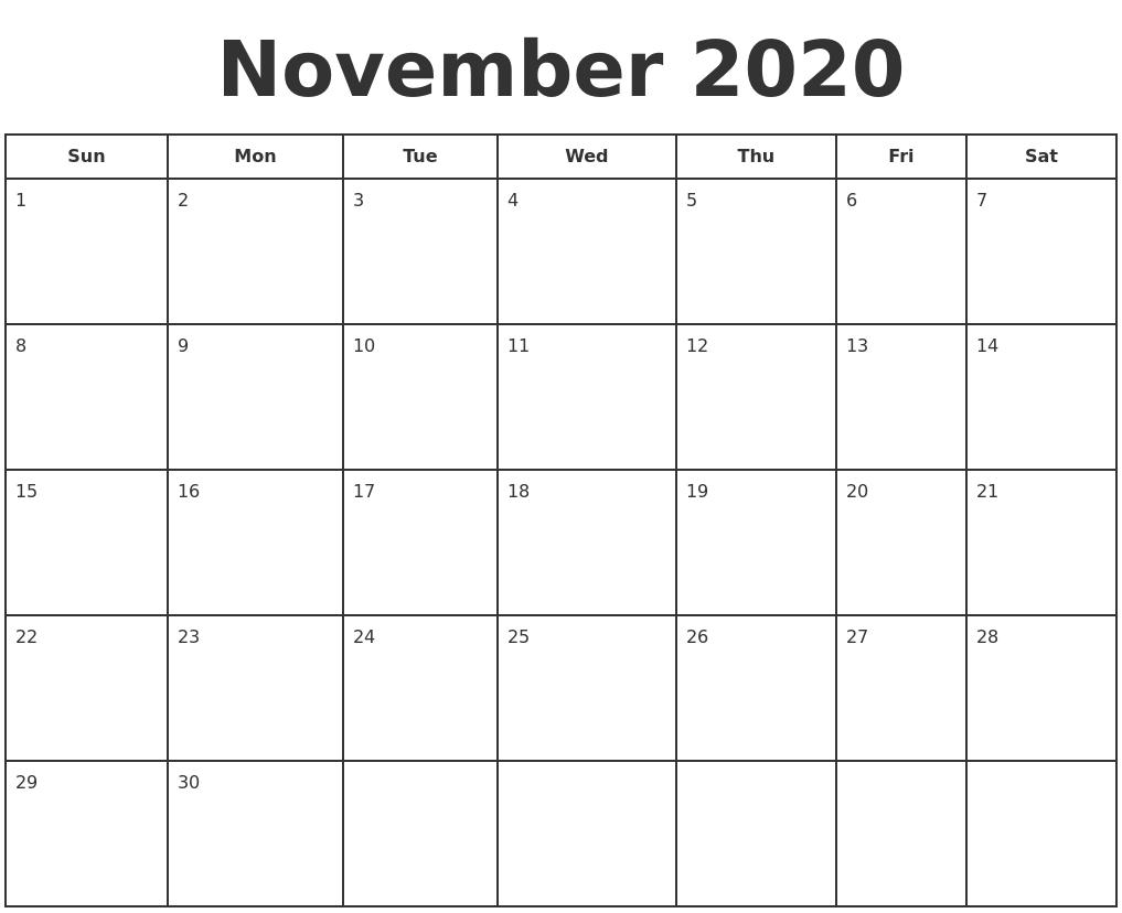 Print A Calendar 2020 - Wpa.wpart.co