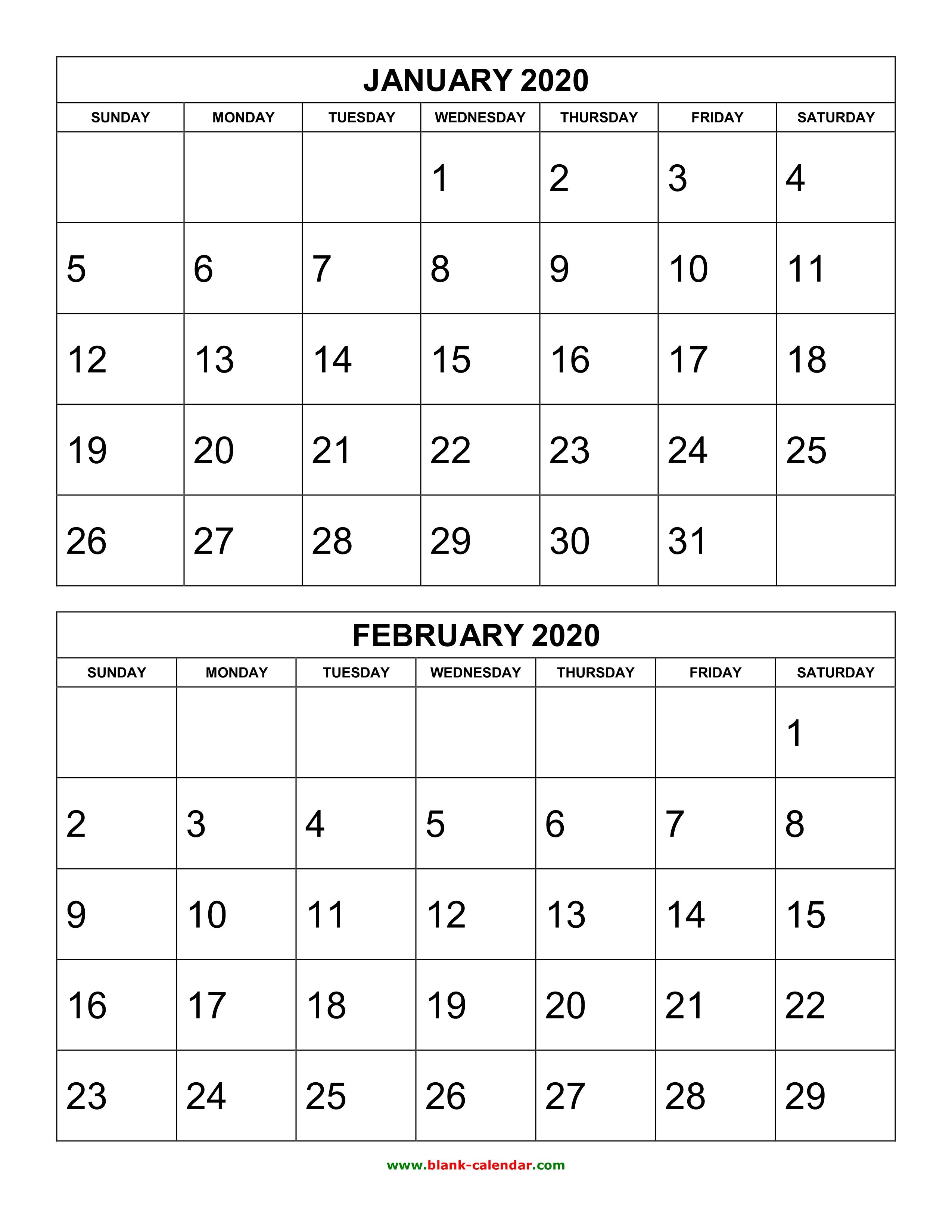 Print Calendar 2020 Month - Wpa.wpart.co