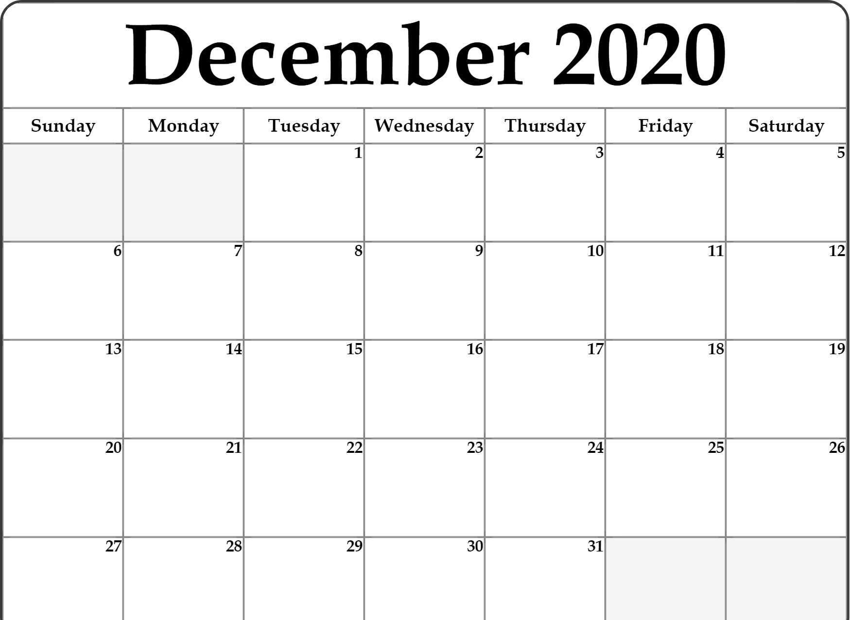 Print A Calendar December 2020 | Calendar Printables Free ...