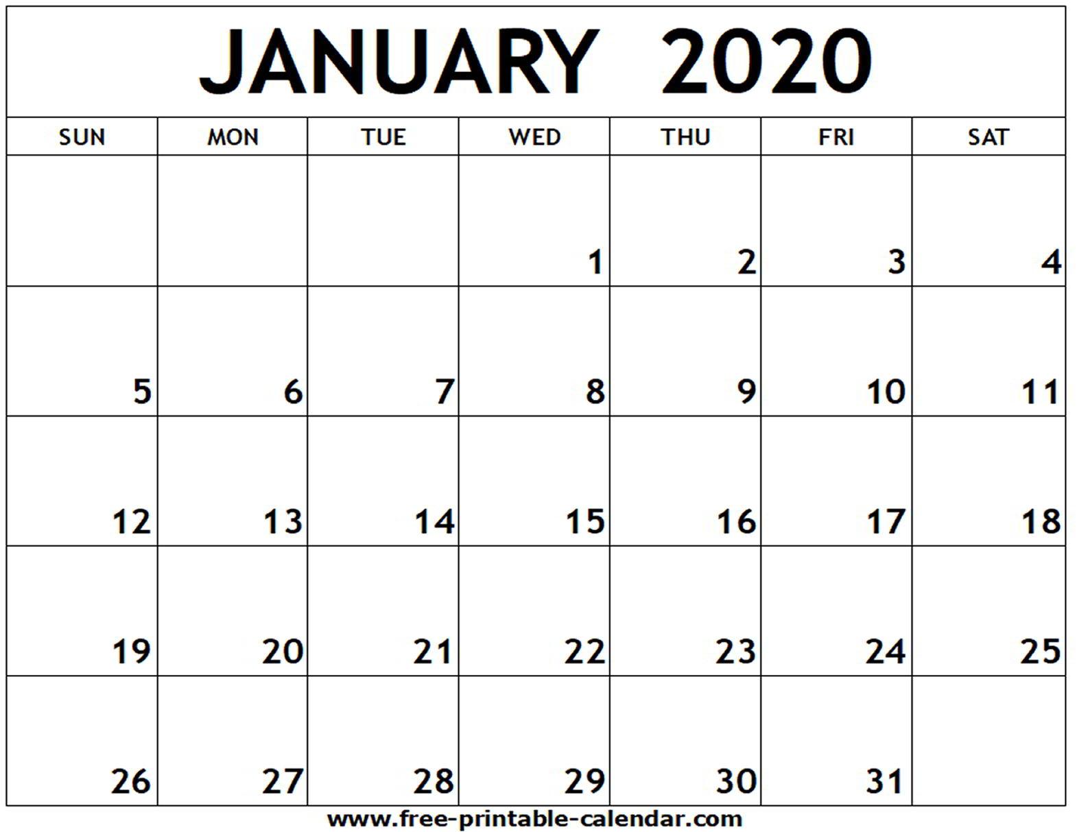 Print Calendar Free 2020 - Wpa.wpart.co