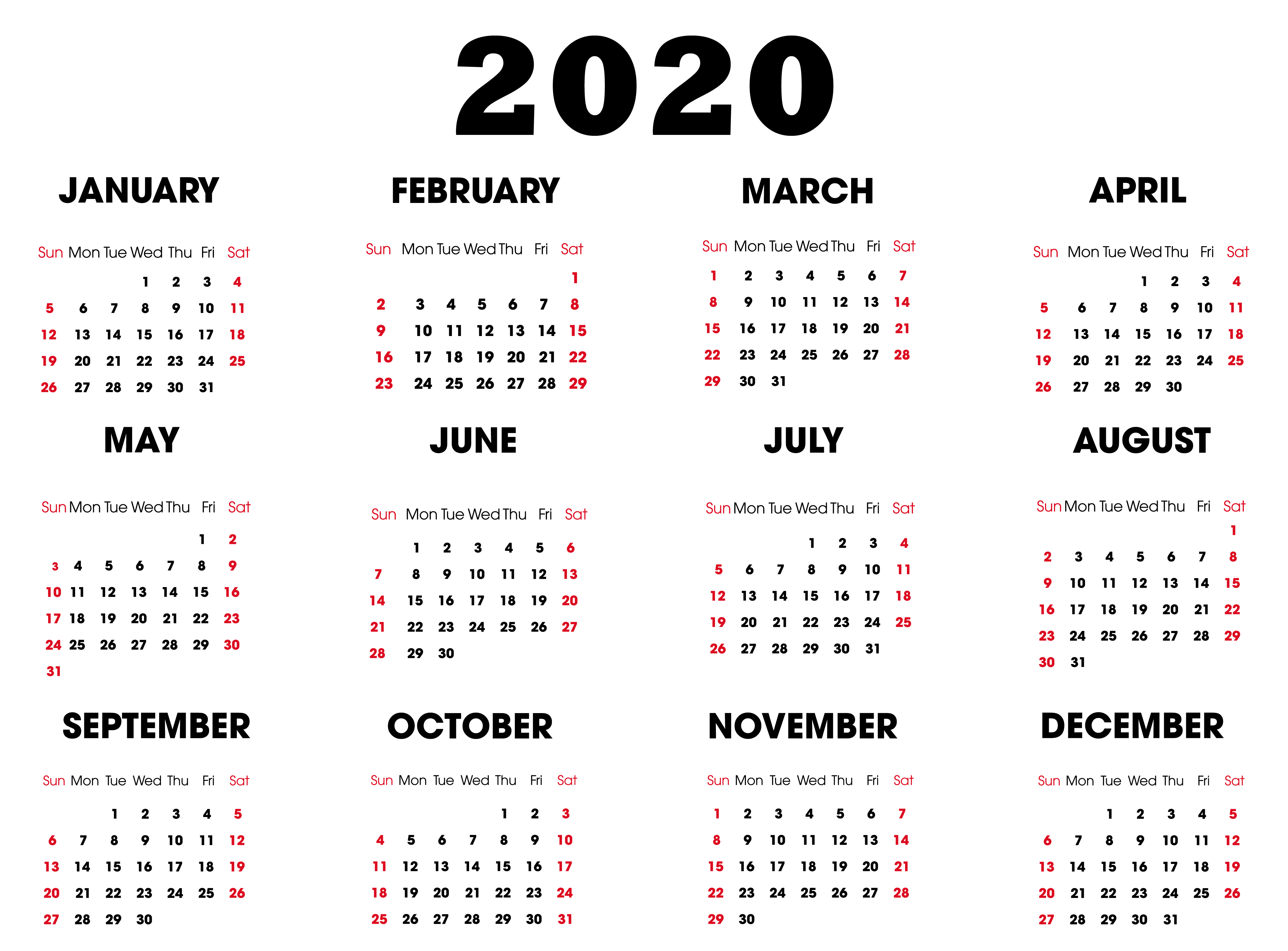 Print Online Calendar 2020 - Wpa.wpart.co