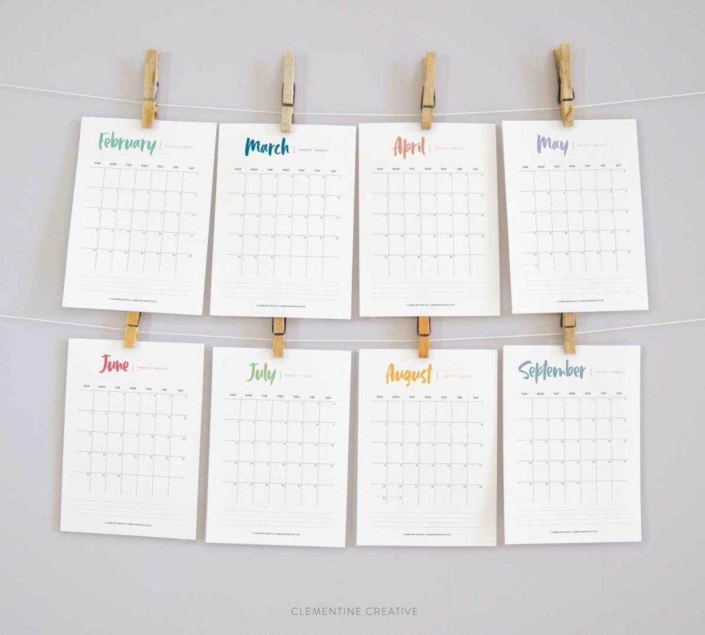Printable 2020 Calendar {A Pretty Monthly Calendar Planner} -
