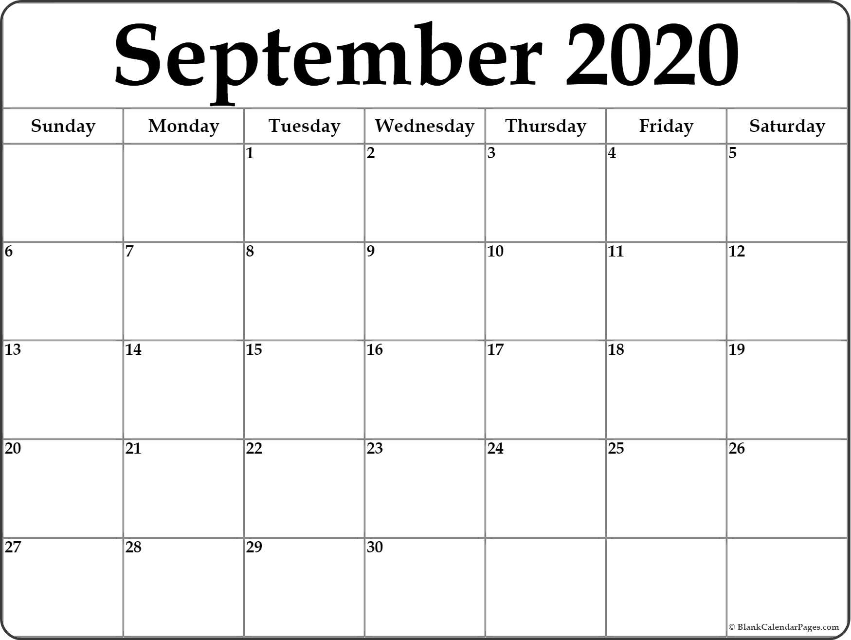 Printable 2020 Calendarmonth - Wpa.wpart.co