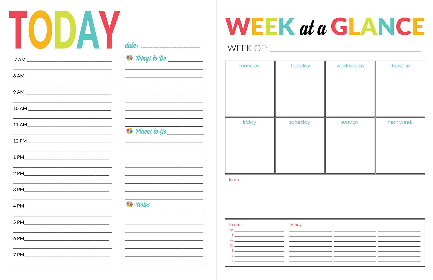 Printable Calendar Daily Planner - Wpa.wpart.co