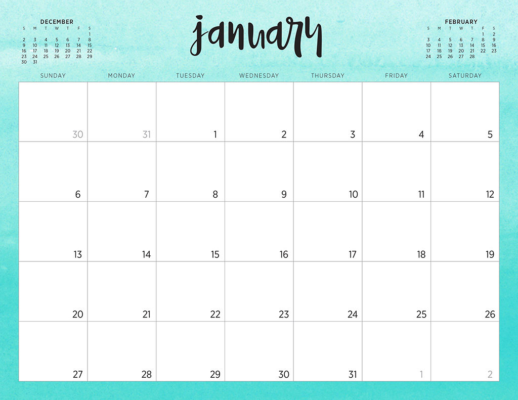 Printable Calendar Download - Wpa.wpart.co