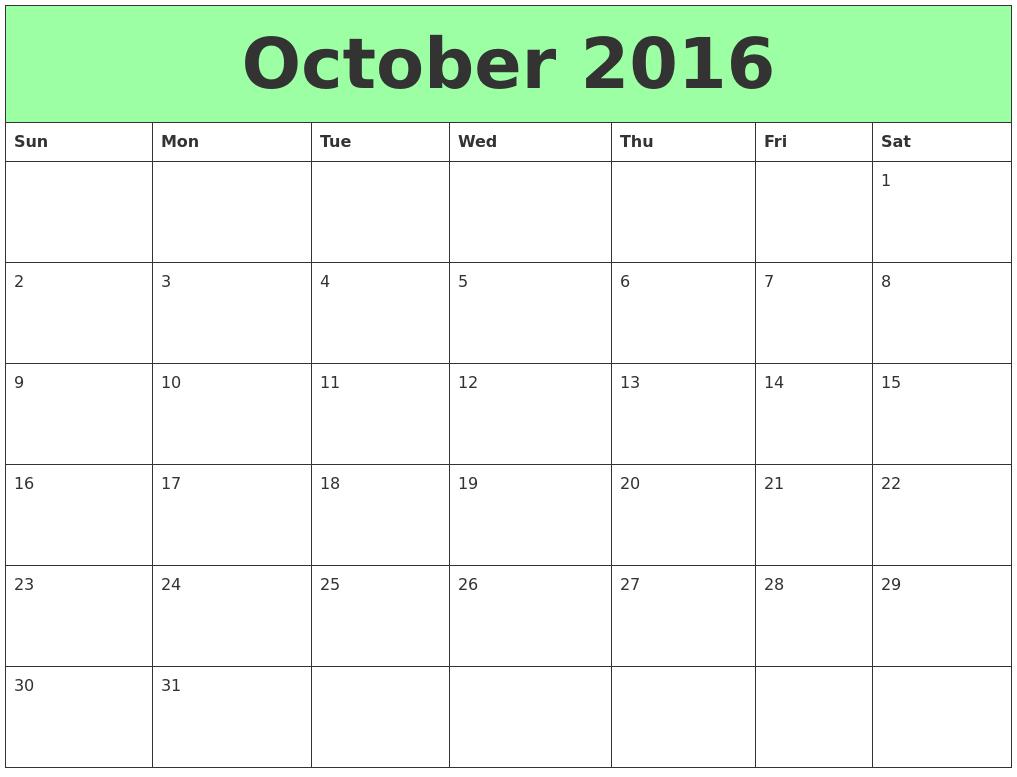 Printable Calendar For October | Nepali Calendar Software