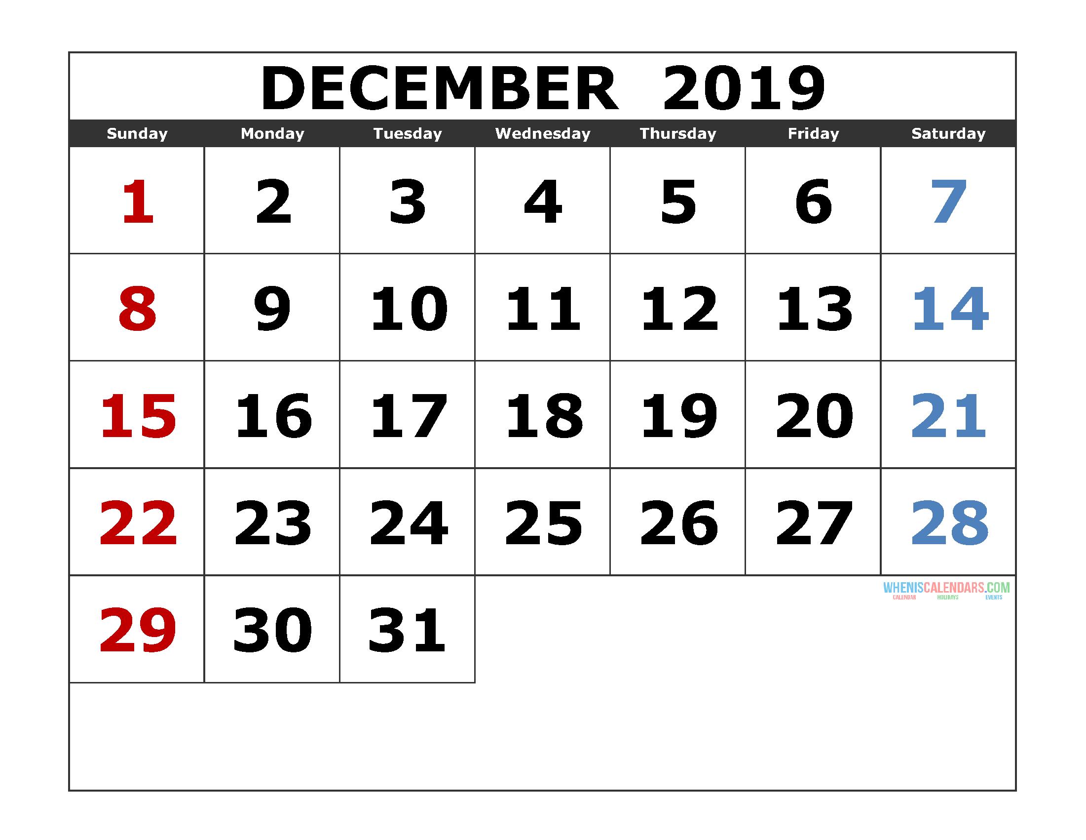 Printable Calendar | Free Printable 2020 Monthly Calendar