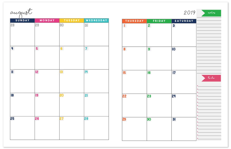 Printable Calendar Planner - Wpa.wpart.co