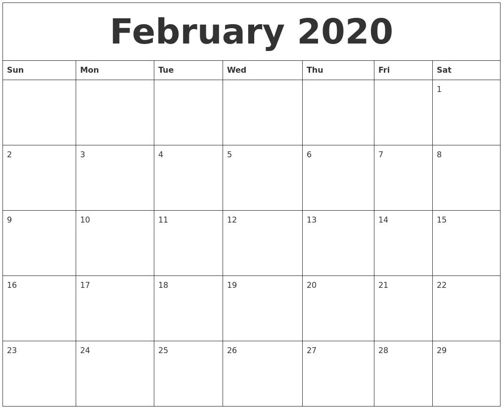 Printable Calendar Sheets 2020 - Wpa.wpart.co
