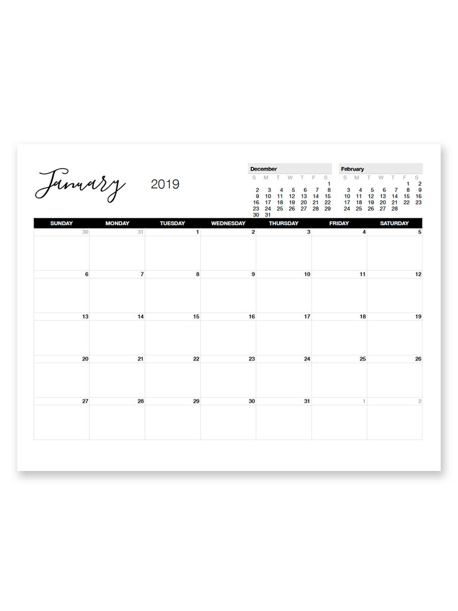 Printable January 2019 Calendar | Free Printable Calendar