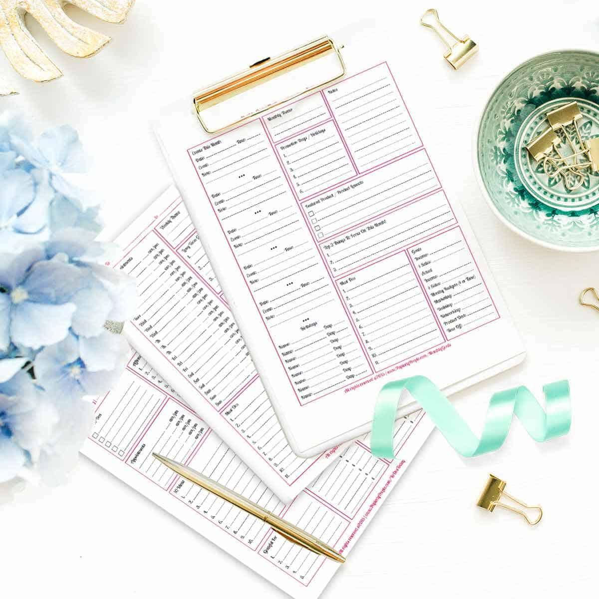 Printable Planner Calendar System For Staples Arc System Or