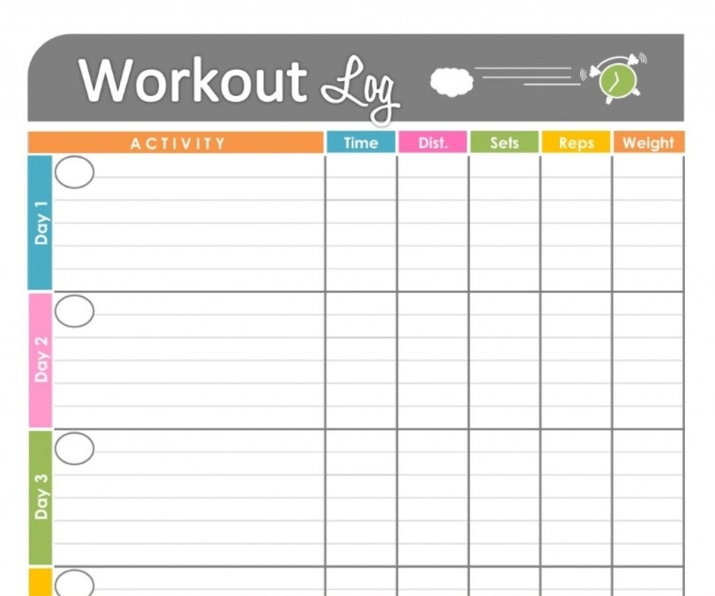 Printable Workout Calendar Log | Workout Calendar Printable