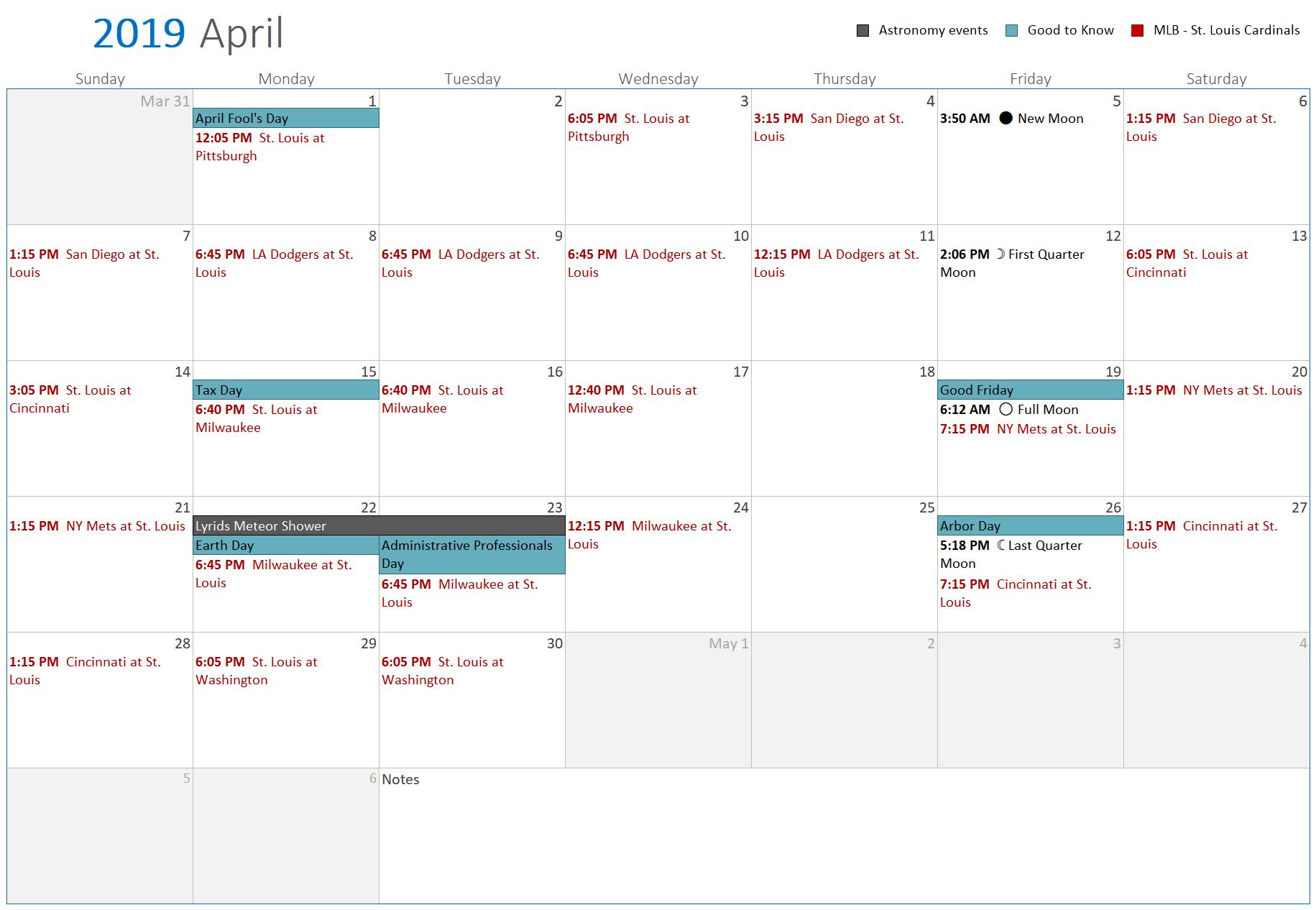 Printablecal | Create Printable Calendars With 60+ Free