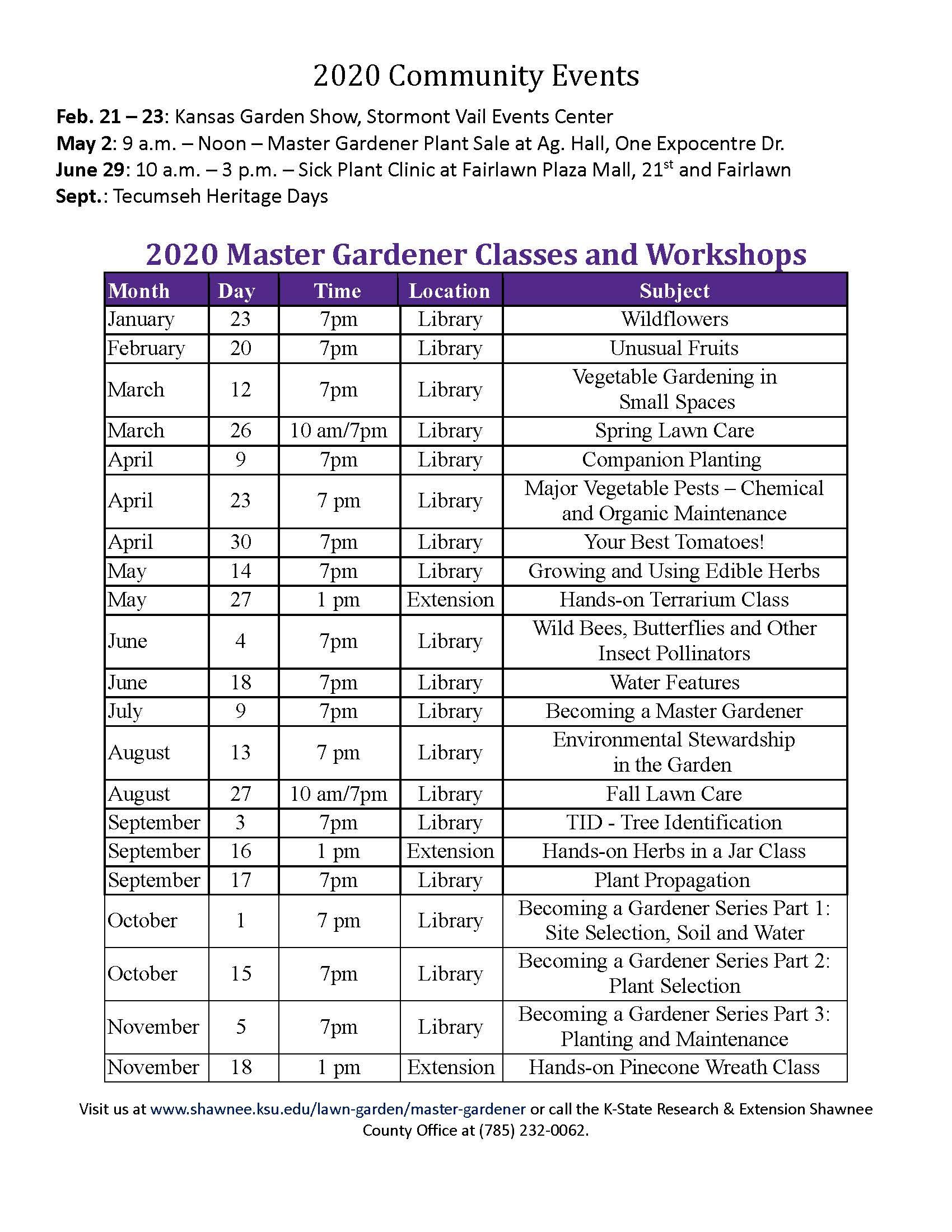 Public Events Calendar