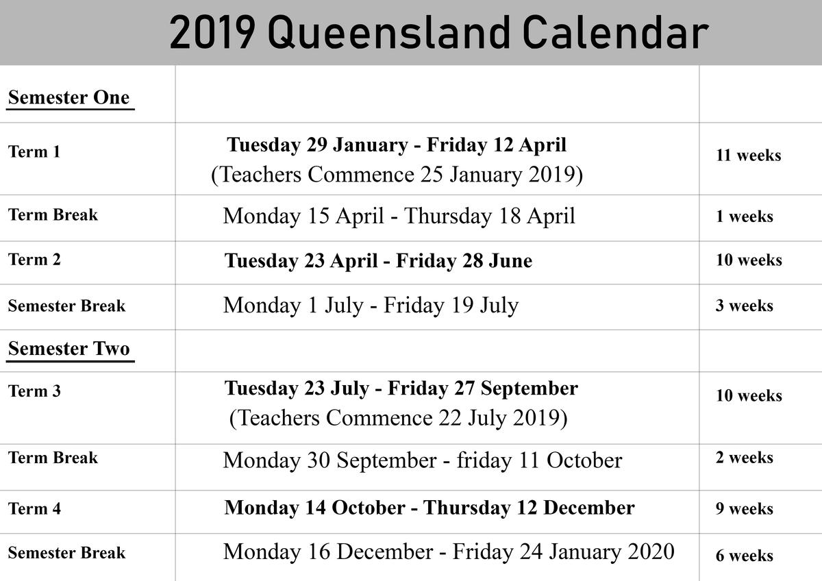 Qld School Holidays Calendar 2020 | Qld School Holidays