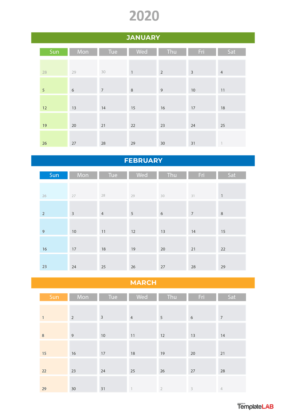 Quarterly Calendar 2020 Printable - Wpa.wpart.co