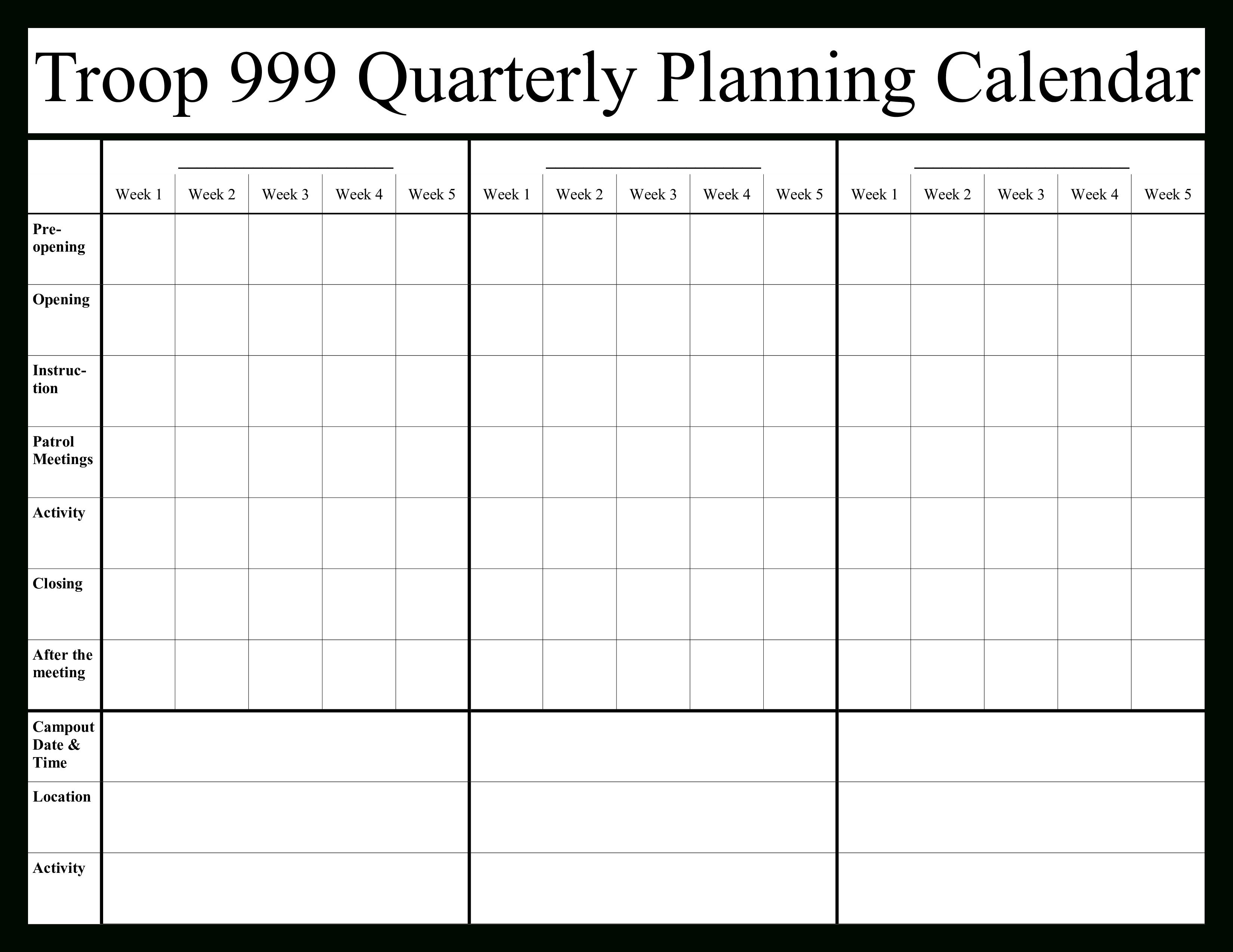 Quarterly Calendar 2020 | Templates At Allbusinesstemplates