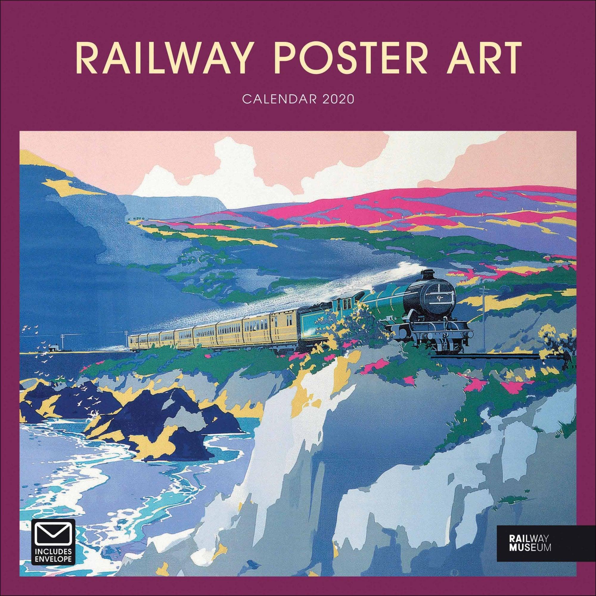 Railway Poster Art Calendar 2020