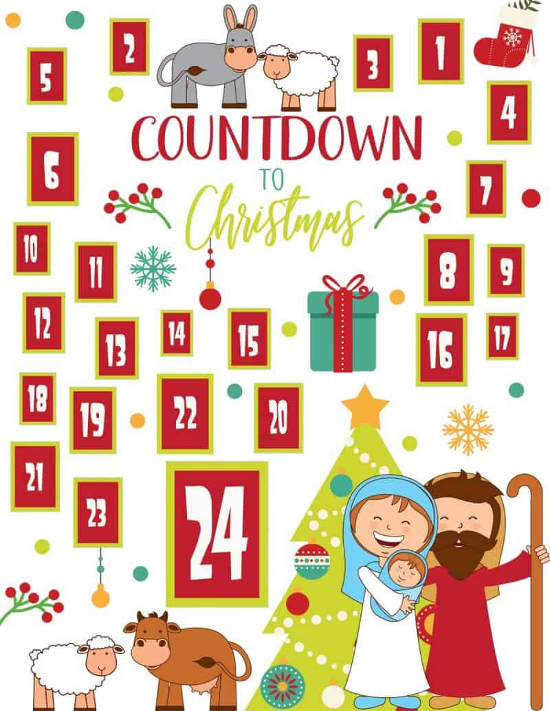 Religious Advent Calendar Clipart