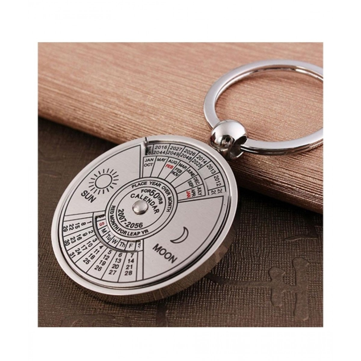 Saad Traders Metal Perpetual Calendar Key Chain