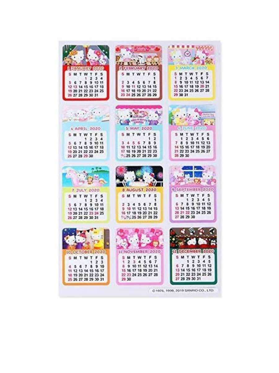 Sanrio Hello Kitty Sticker Calendar: 2020 | Central.co.th