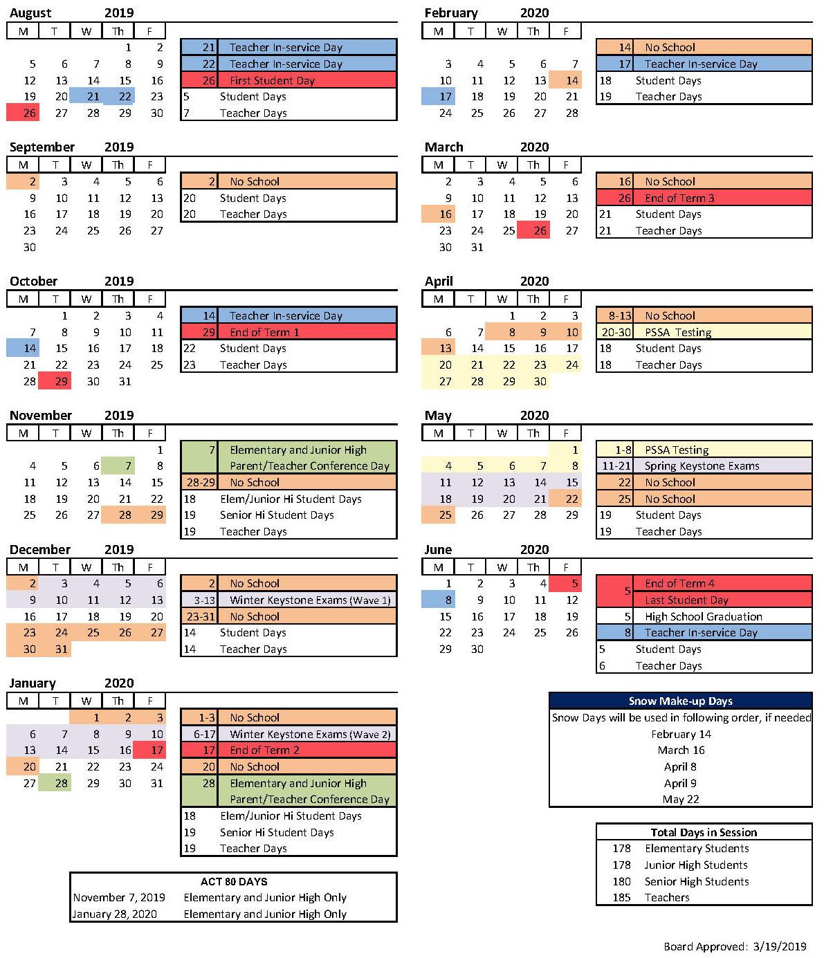 School Year Calendar - Iroquois School District