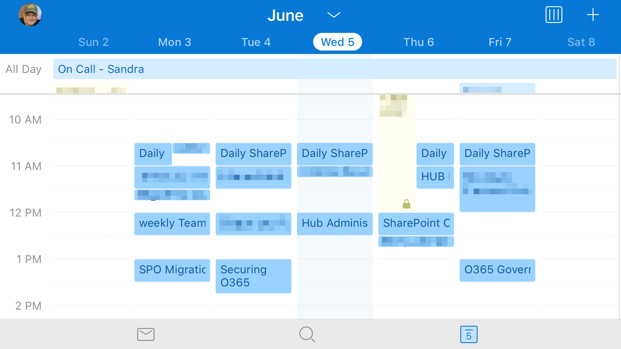 Seeing A Weekly Calendar View In The Outlook Mobile App