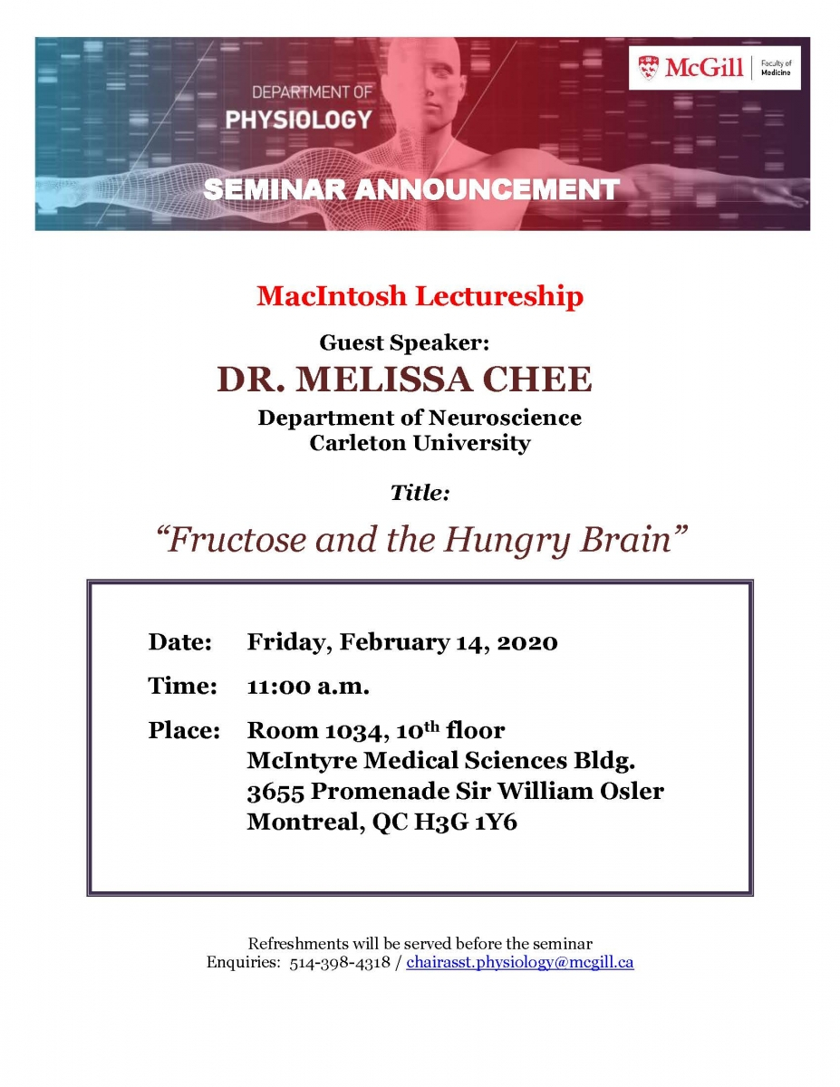Seminar - Fructose And The Hungry Brain | Biomedical