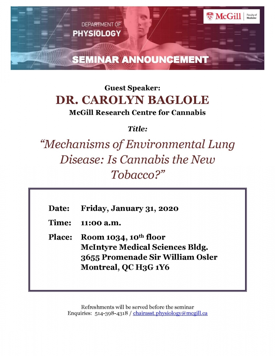 Seminar - Mechanisms Of Environmental Lung Disease: Is
