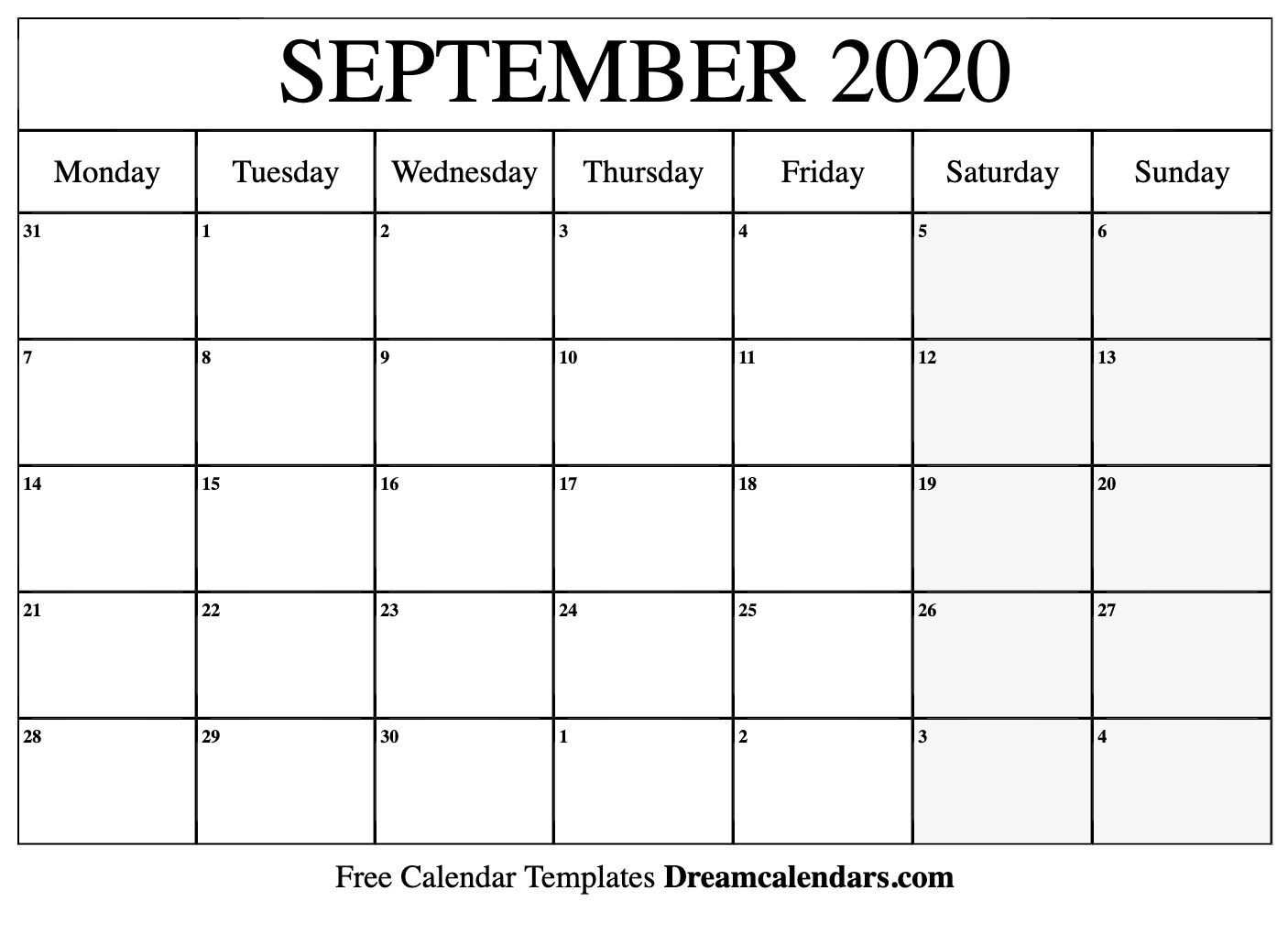 September 2020 Calendar Wallpapers - Top Free September 2020