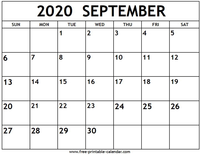 September 2020 Calendar Word - Wpa.wpart.co