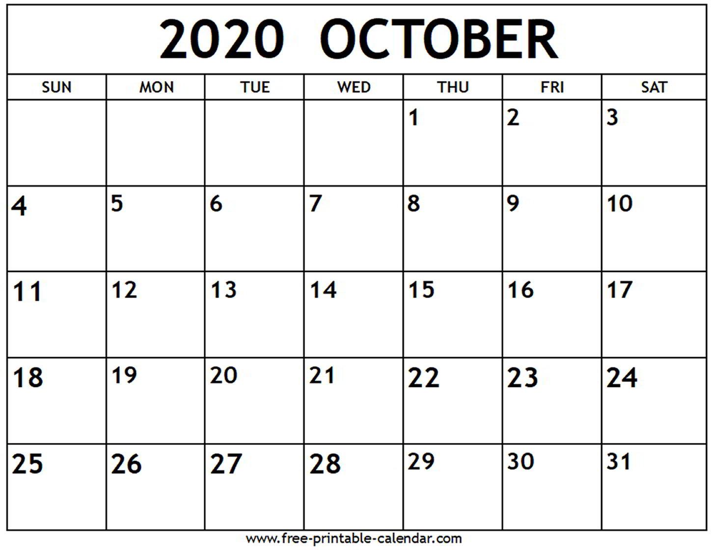 September October 2020 Calendar Printable - Wpa.wpart.co