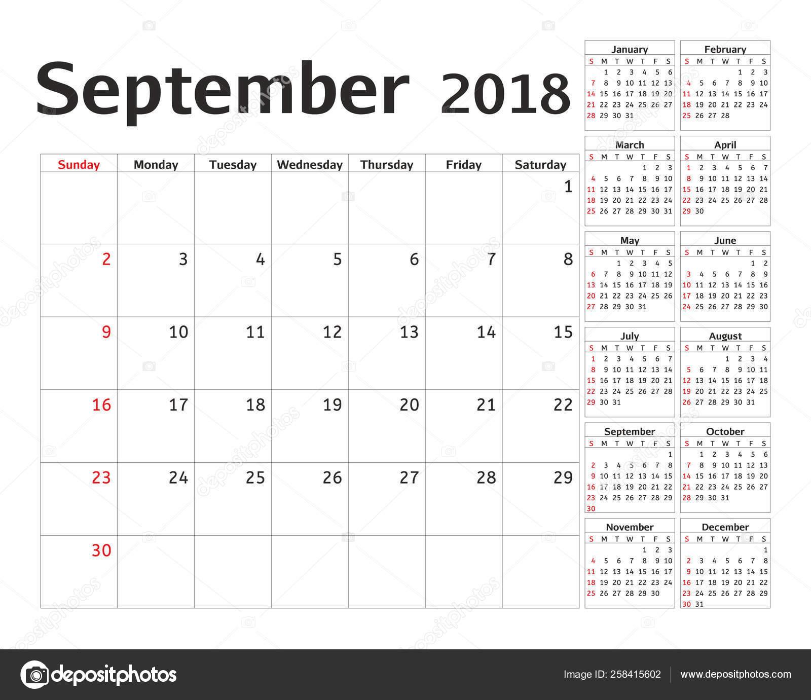 Simple Calendar Planner 2018 Year Calendar Planning Week