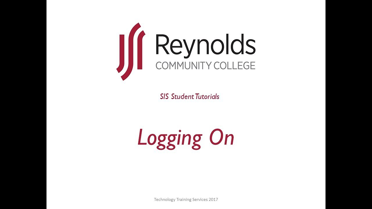 Sis Tutorials | Reynolds Community College