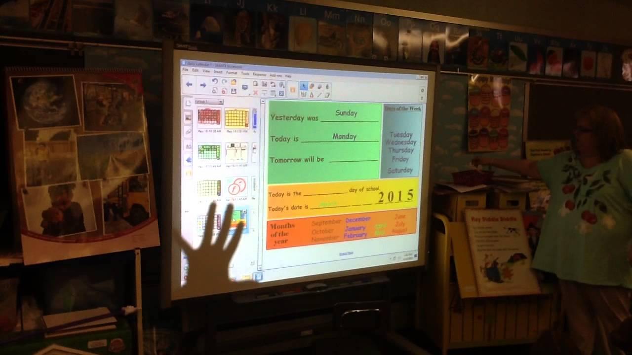 Smartboard Kindergarten Calendar Lesson