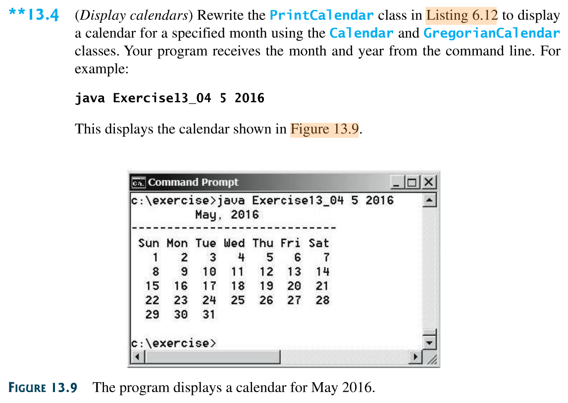 Solved: Work Programming Exercise 13.4, Page 529, Display