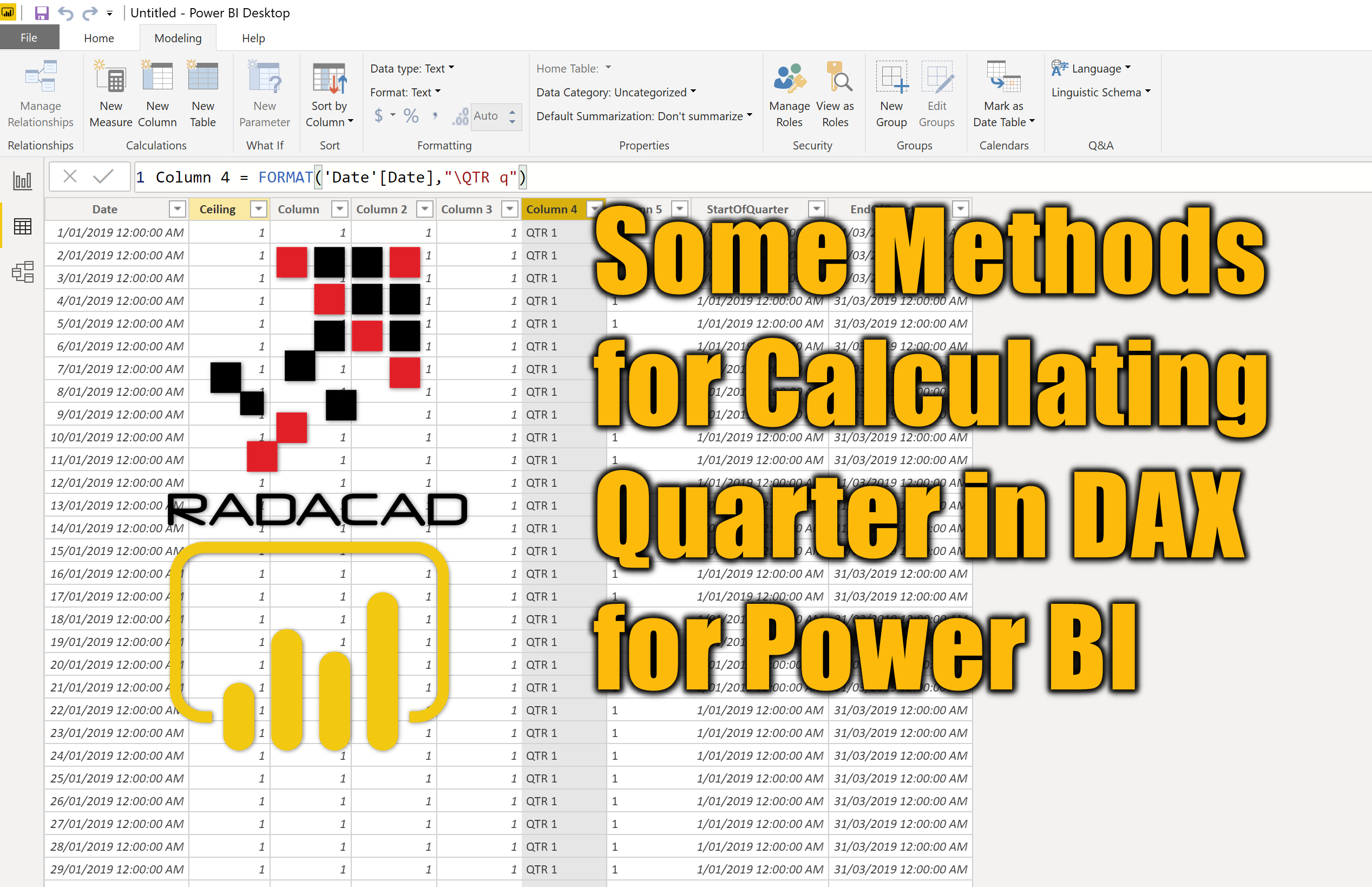 Some Methods For Calculating Quarter In Dax For Power Bi