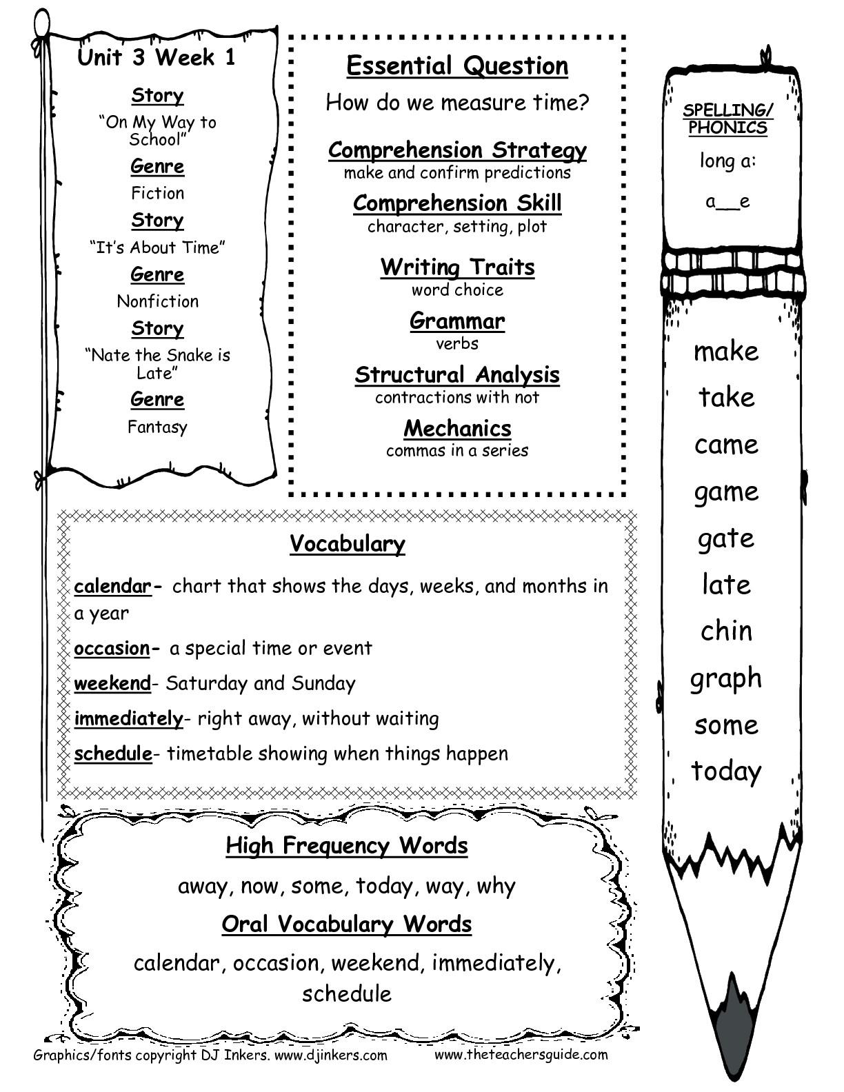 Spelling Practice Worksheets For 1St De First Homeschool