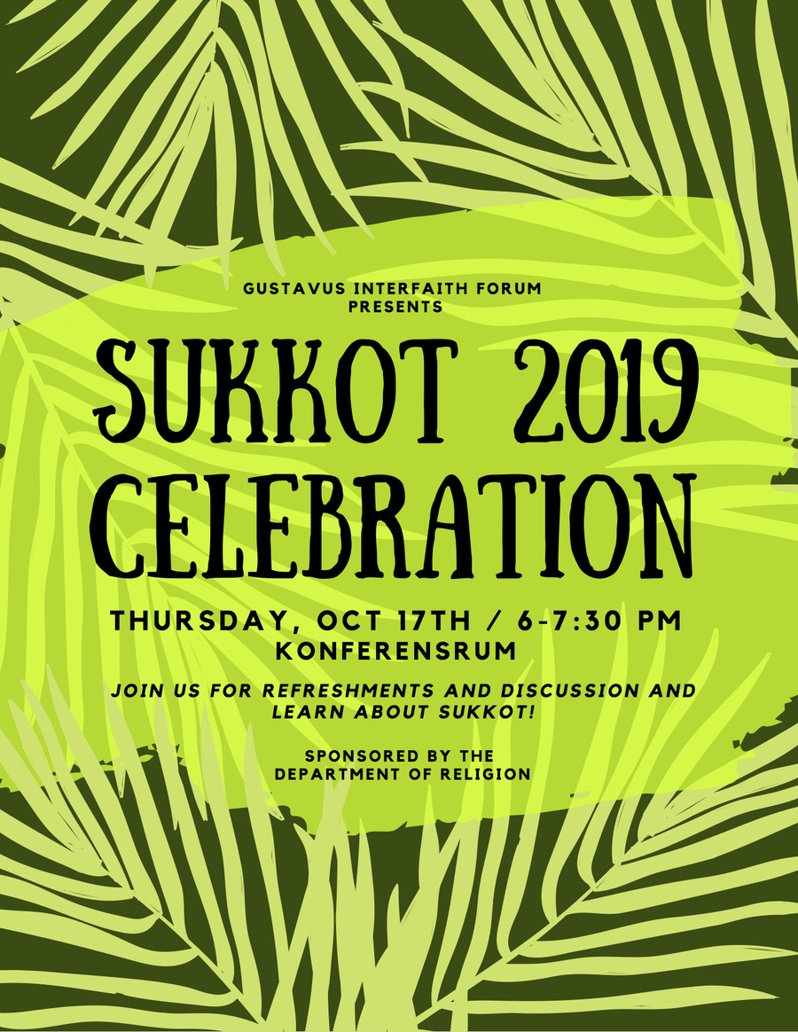 Sukkot 2019 Celebration - October 17 At 6–7:30 P.m. | Calendar
