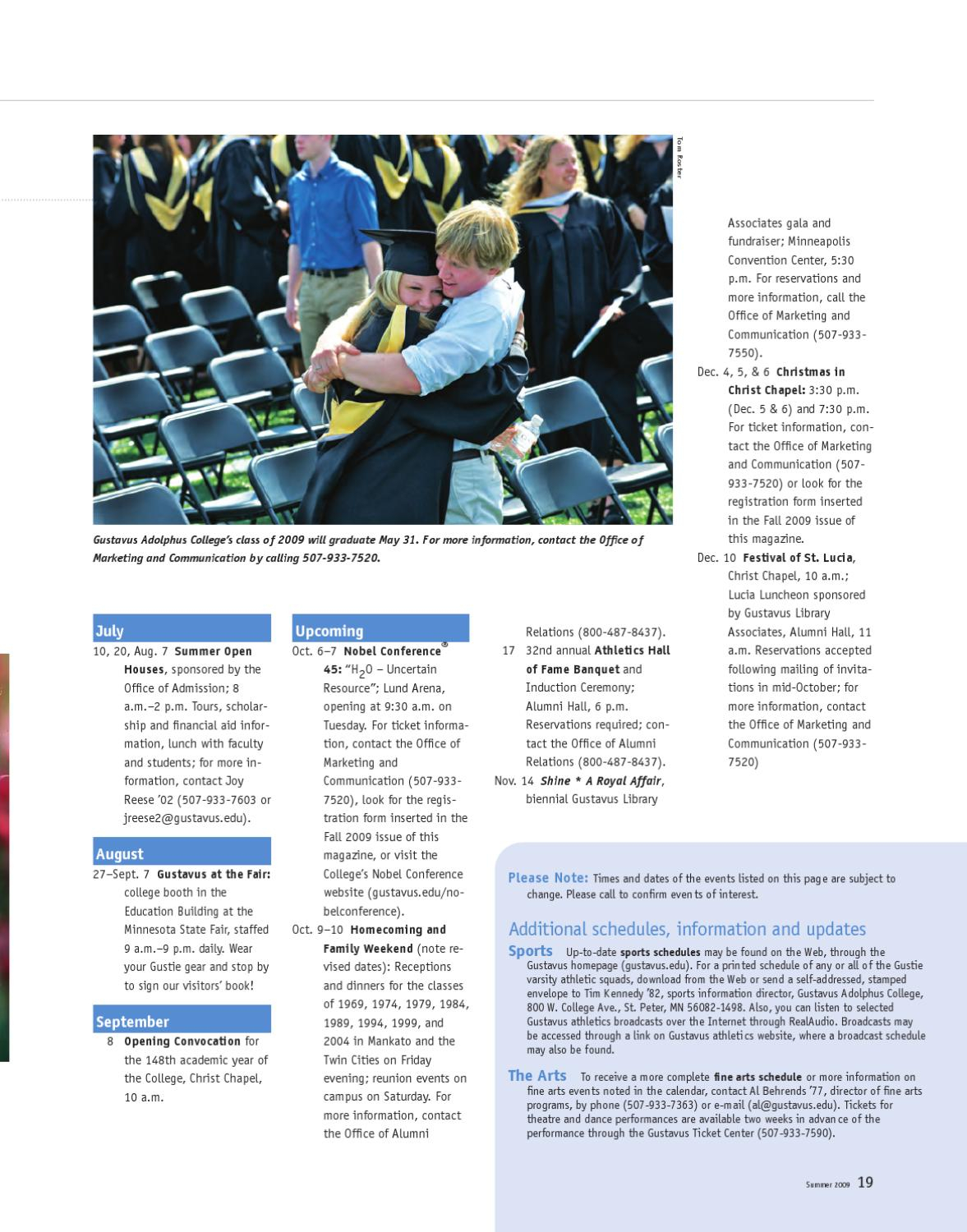 Summer 2009 Quarterlygustavus Adolphus College - Issuu
