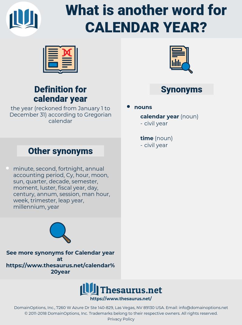 Synonyms For Calendar Year - Thesaurus
