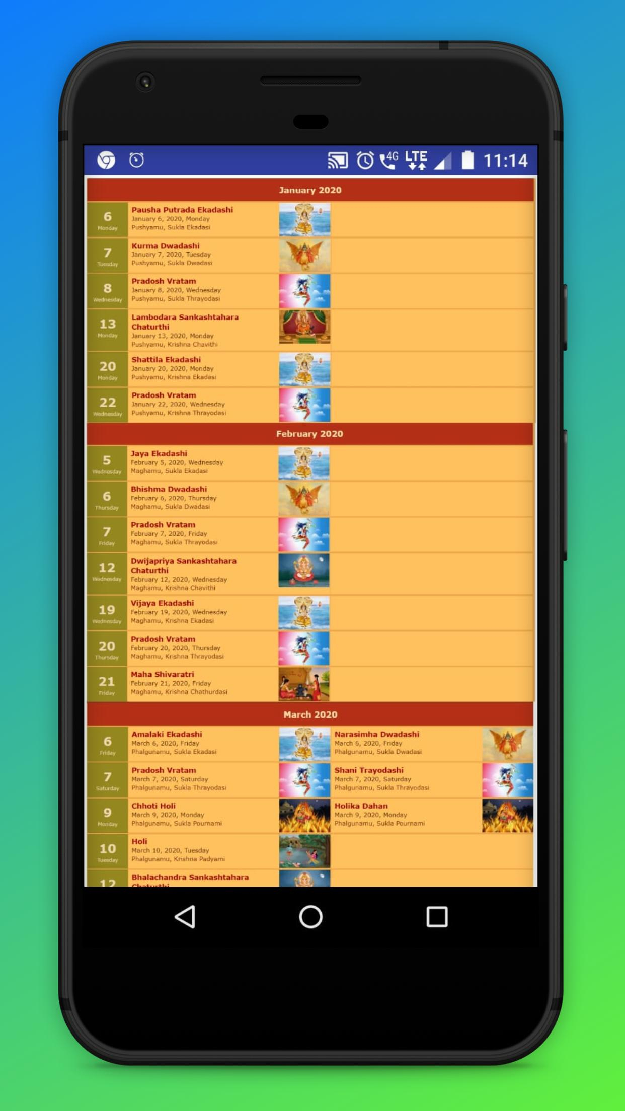 Telugu Calendar Panchang 2020 For Android - Apk Download