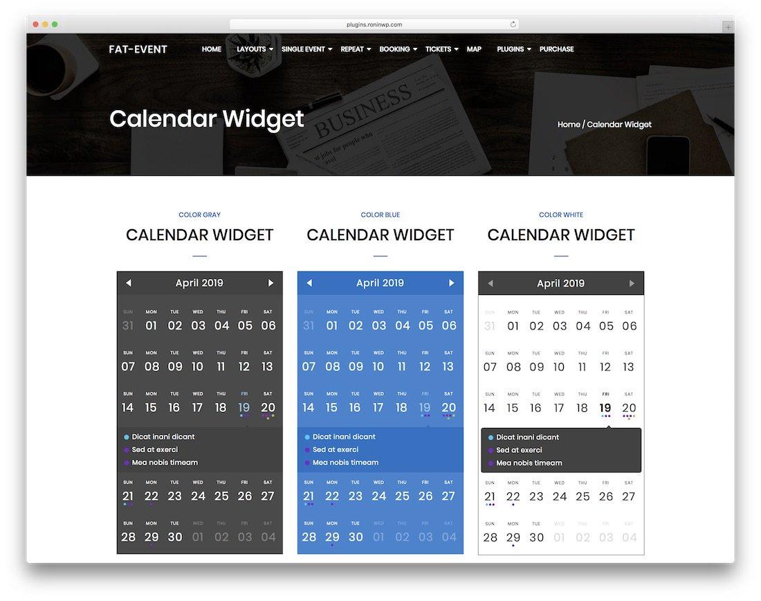 The Best WordPress Calendar Plugins For 2019 - Colorlib