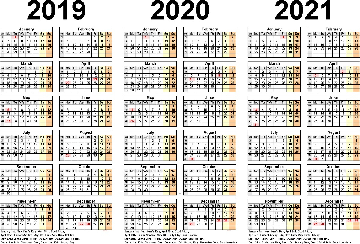 Three Year Calendar - Wpa.wpart.co