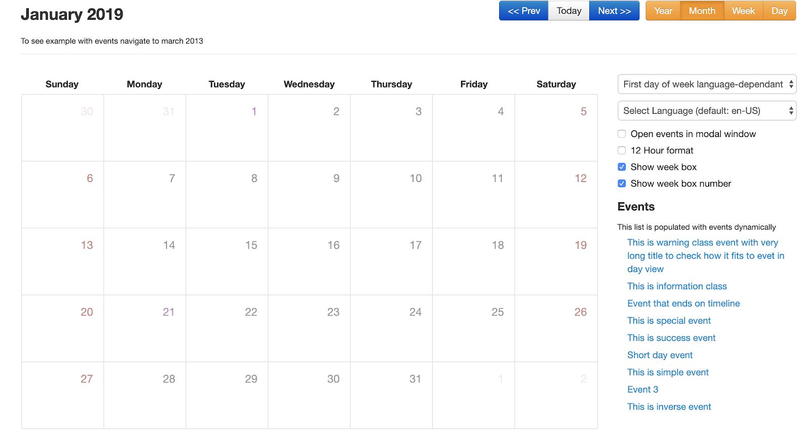 Top Javascript Calendar Plugins - Flatlogic - Medium