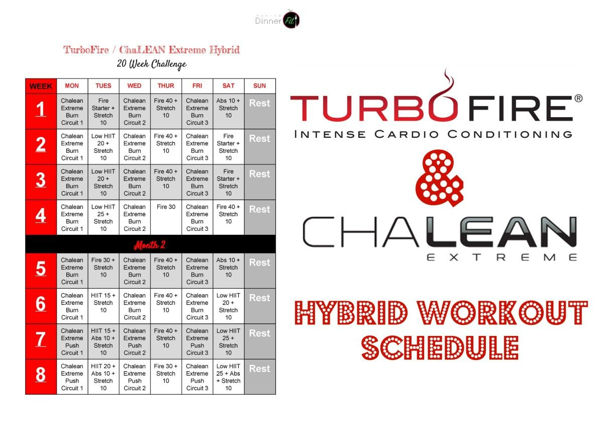 Turbofire Hybrid - Google Search | Workout Schedule, Workout