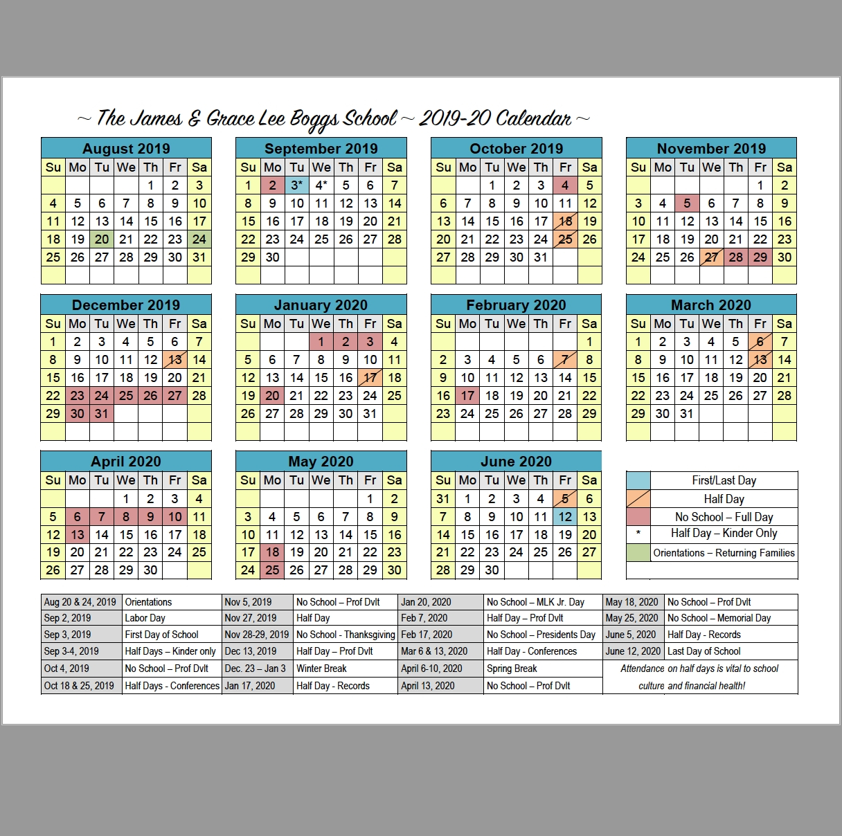 U Michigan Calendar 2020 | Month Calendar Printable