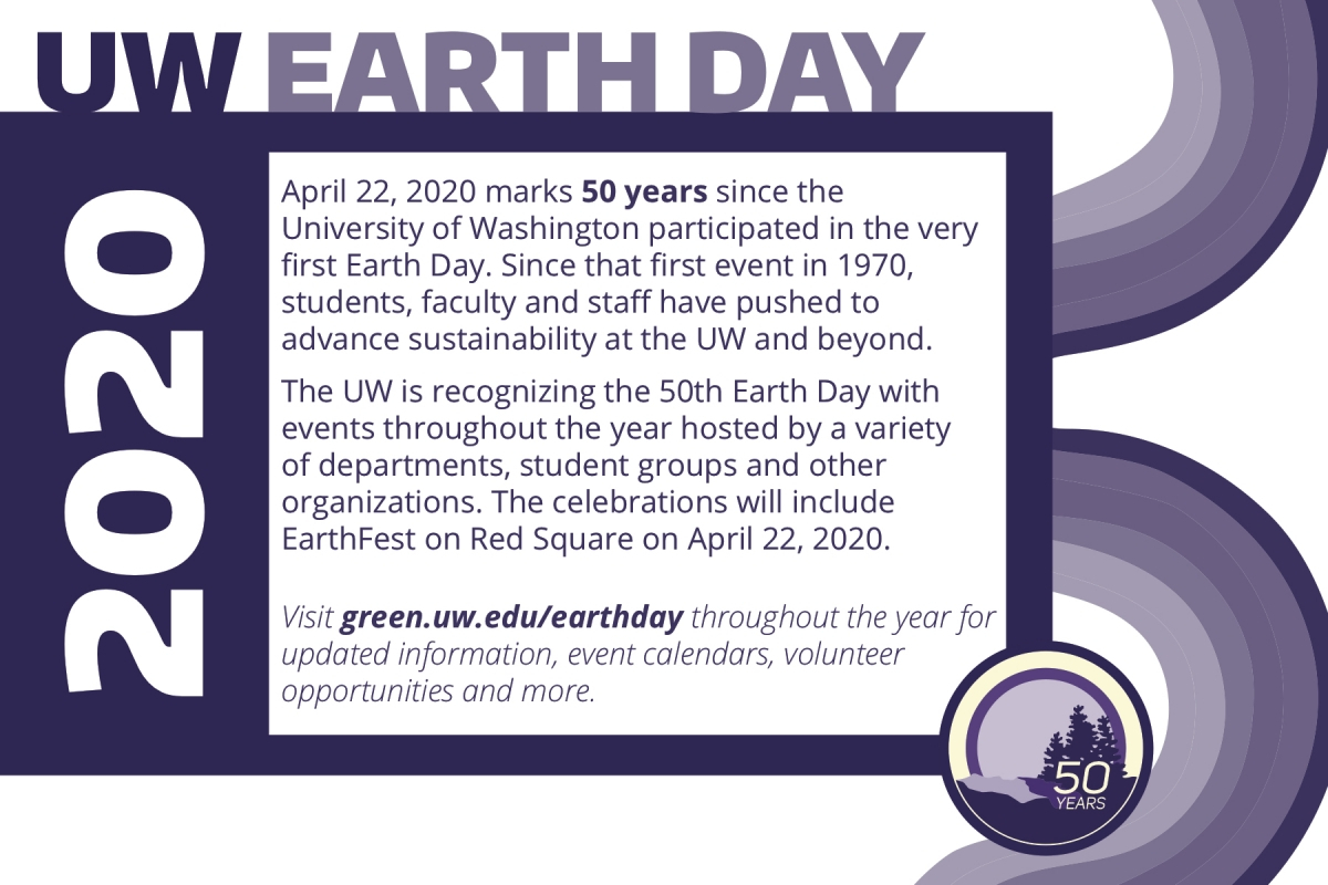 Uw Earth Day 2020 Promo Kit | Uw Sustainability