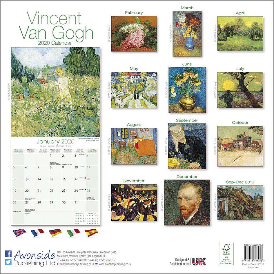 Van Gogh 2020 Calendar